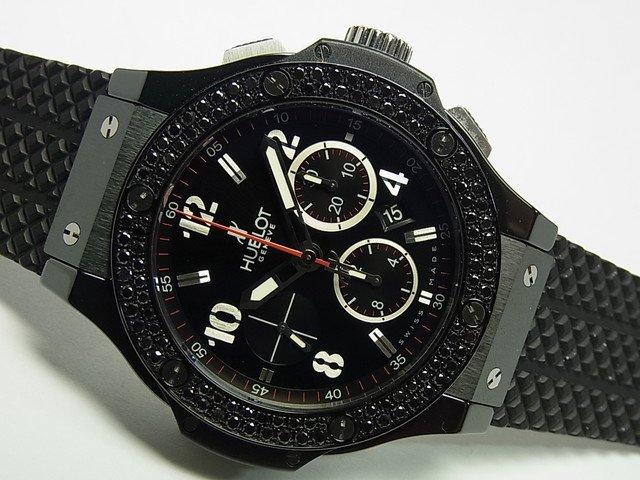 pretty nice 066b5 d7835 ウブロ ビッグバン・ブラックマジック 黒ダイヤ 正規品 - 腕時計 ...