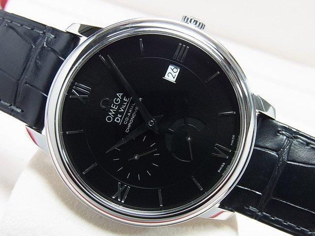 オメガ デ・ヴィル パワーリザーブ 39.5MM ブラック 革
