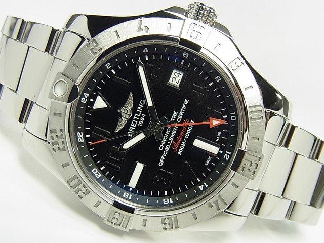 ブライトリング アベンジャーII・GMT ブラック 正規品