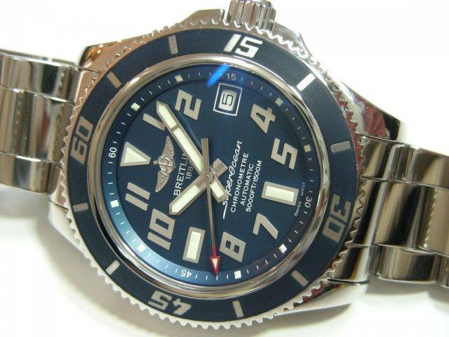 ブライトリング S・オーシャン 42MM ブルー 2000本限定 ラバー&ブレス