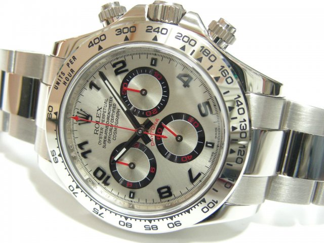 best service ab060 e4073 ロレックス デイトナ 18Kホワイトゴールド シルバー・アラビア ...