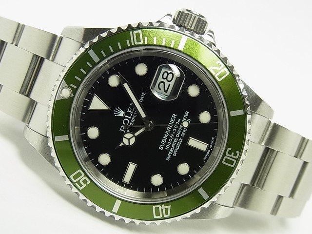 big sale 26435 2511d ロレックス グリーンサブ Ref.16610LV フラット4 Y番 - 腕時計 ...