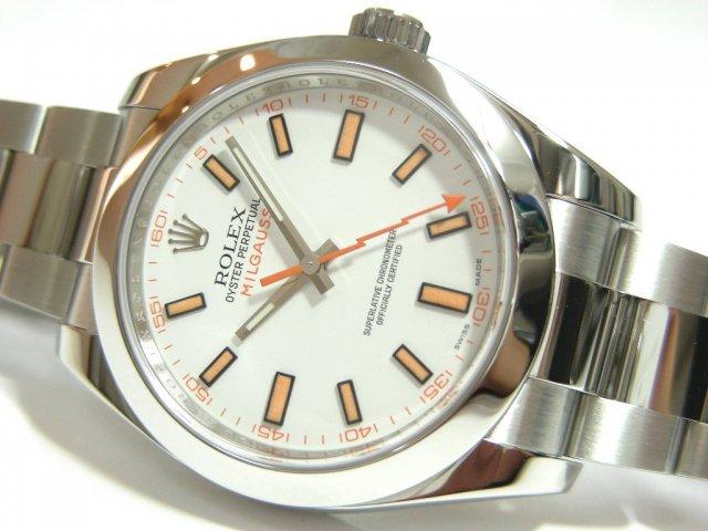 ロレックス ミルガウス ホワイト 116400
