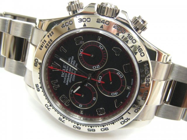 hot sale online 50d5c eeae7 ロレックス デイトナ 18Kホワイトゴールド ブラックアラビア - 腕時計専門店THE-TICKEN(ティッケン) オンラインショップ