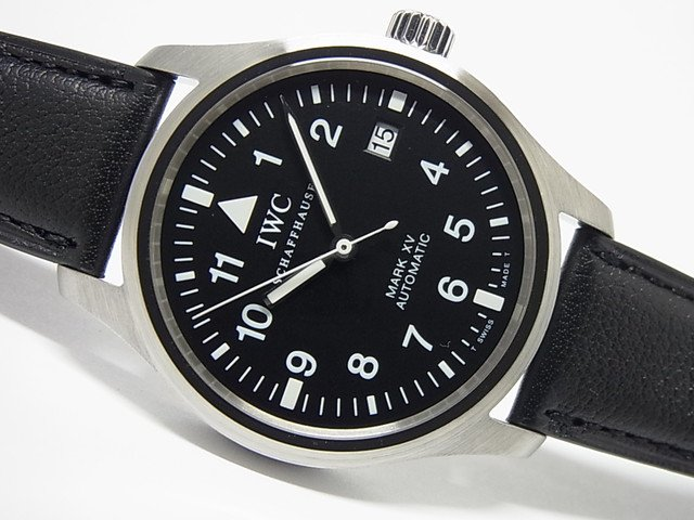 best service f318b bd5d5 IWC マーク15 ブラック 革ベルト仕様 3253-01 - 腕時計専門店THE-TICKEN(ティッケン) オンラインショップ