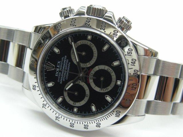 uk availability f1404 445e7 ロレックス デイトナ SS ブラック 116520 V番 - 腕時計専門店THE ...
