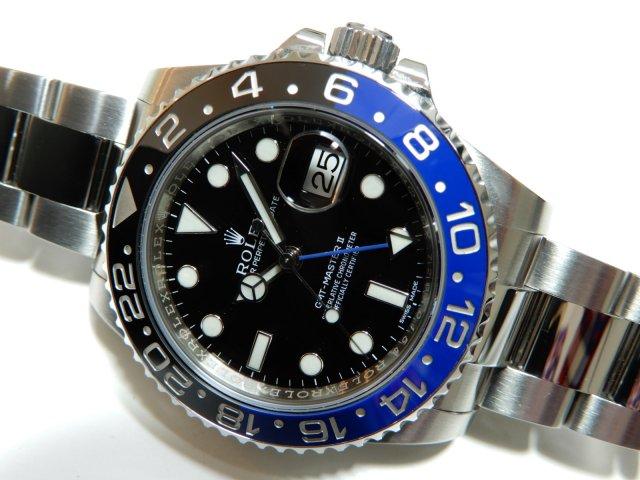 ロレックス GMTマスターII 青黒セラクロムベゼル 116710BLNR