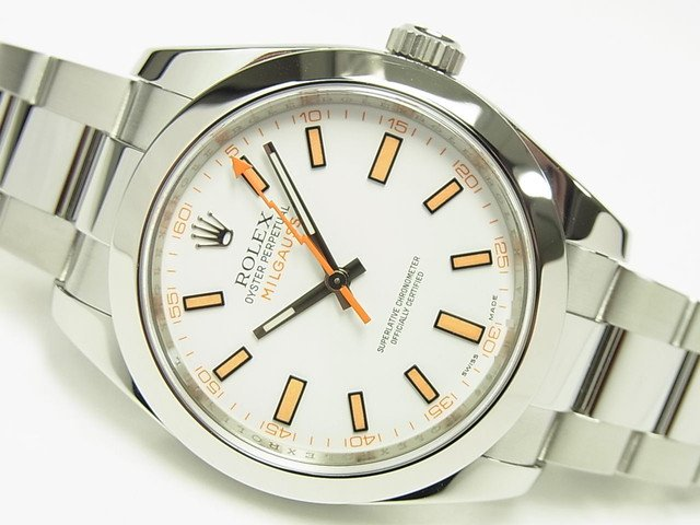 ロレックス ミルガウス ホワイト Ref.116400 V番 正規品