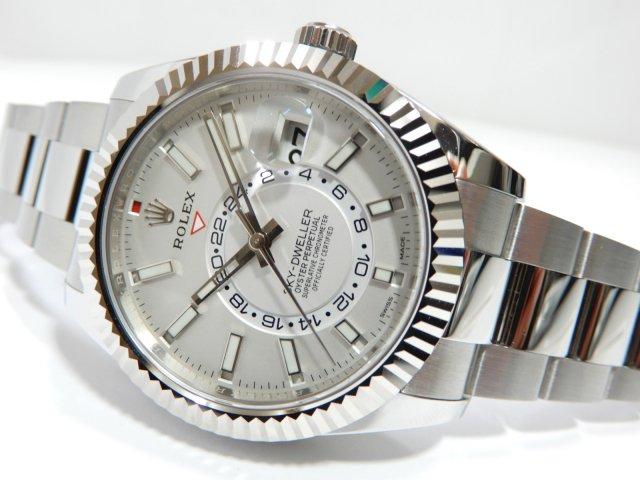 free shipping 2cb26 550f6 ロレックス スカイドゥエラー 2017年新作 スチール&ホワイトゴールド - 腕時計専門店THE-TICKEN(ティッケン) オンラインショップ