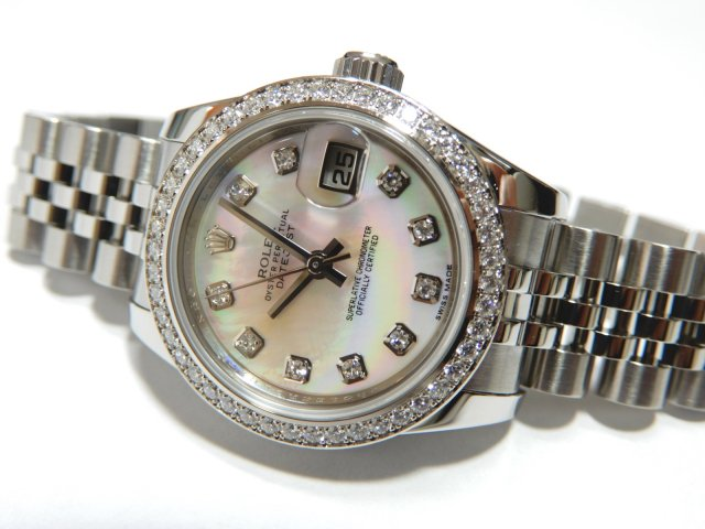 newest f2429 7be65 ロレックス レディ デイトジャスト26 ダイヤ入ホワイトゴールドベゼル ピンクシェル - 腕時計専門店THE-TICKEN(ティッケン)  オンラインショップ