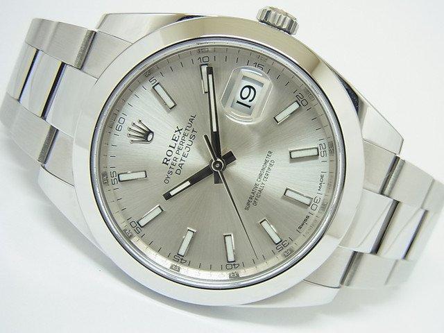 promo code e0b97 a3a5a ロレックス デイトジャスト41 シルバー 126300 正規品 - 腕時計専門店THE-TICKEN(ティッケン) オンラインショップ