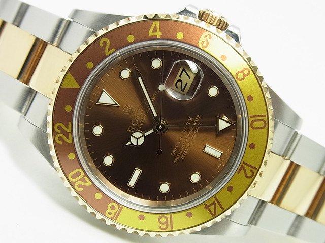 ロレックス GMTマスターII ブラウン 16713 3連 D番