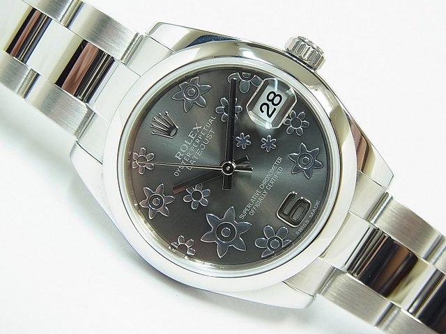 on sale daa2d 24b29 ロレックス デイトジャスト ボーイズ 178240 フラワー文字盤 グレー - 腕時計専門店THE-TICKEN(ティッケン) オンラインショップ