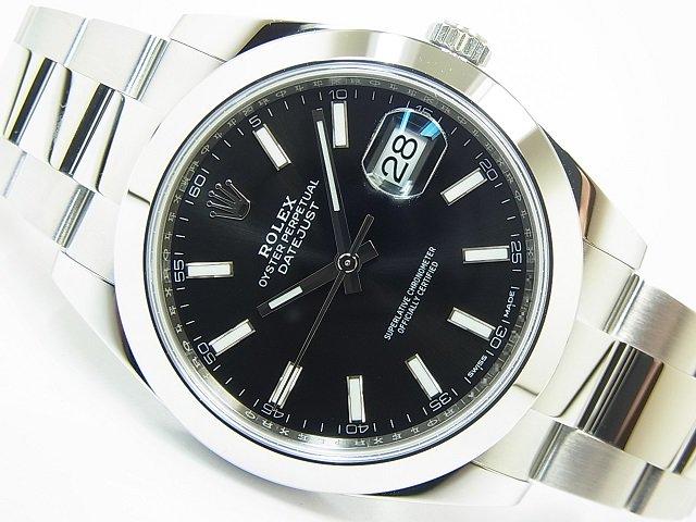 ロレックス デイトジャスト41 ブラック 126300