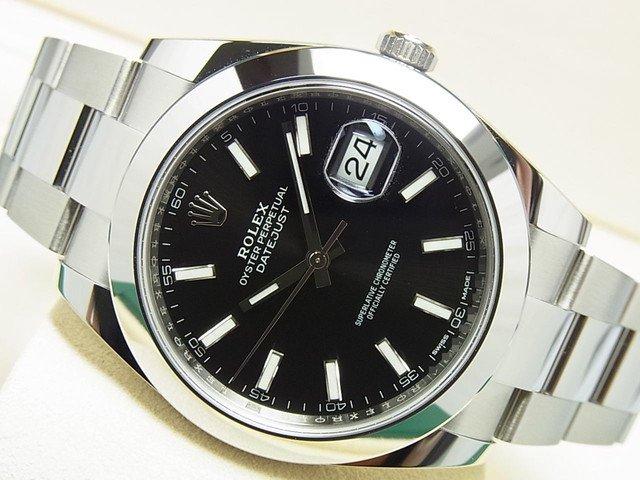 info for be5ef 716b2 ロレックス デイトジャスト41 黒バー Ref.126300 '18年購入 - 腕時計専門店THE-TICKEN(ティッケン) オンラインショップ