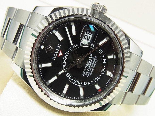 ロレックス スカイドゥエラー WGベゼル ブラック Ref.326934