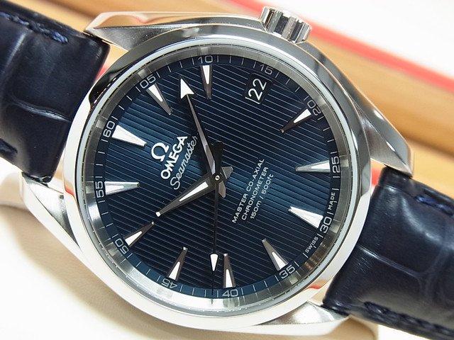 size 40 c614f b9846 オメガ アクアテラ・マスターコーアクシャル 38.5MM ブルー 革 - 腕時計専門店THE-TICKEN(ティッケン) オンラインショップ