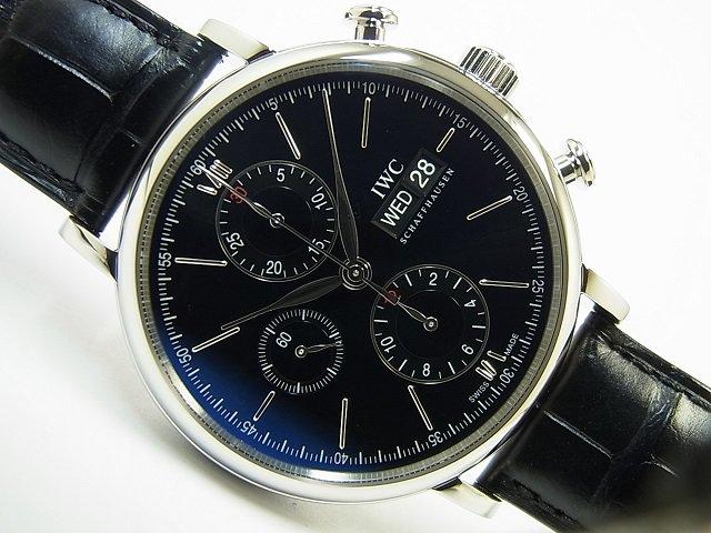 various colors d8e9a 4a02b IWC ポートフィノ・クロノ ブラック 革ベルト IW391002 - 腕時計専門店THE-TICKEN(ティッケン) オンラインショップ