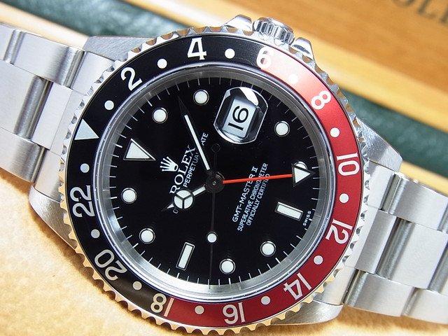 ロレックス GMTマスターII 16710 赤黒ベゼル A番