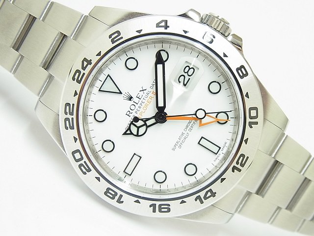 ロレックス エクスプローラーII 216570 ホワイト G番