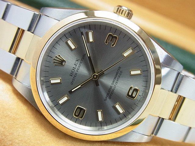 promo code d5d8d c5703 ロレックス オイスターパーペチュアル・コンビ 14203 グレー3・6・9 - 腕時計専門店THE-TICKEN(ティッケン) オンラインショップ