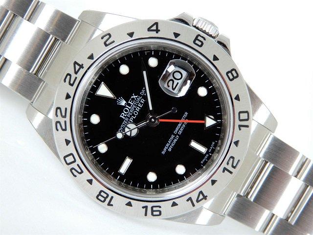 buy popular 57f0c c8746 ロレックス エクスプローラーII 黒 Ref.16570 M番 保護シール付き - 腕時計専門店THE-TICKEN(ティッケン) オンラインショップ