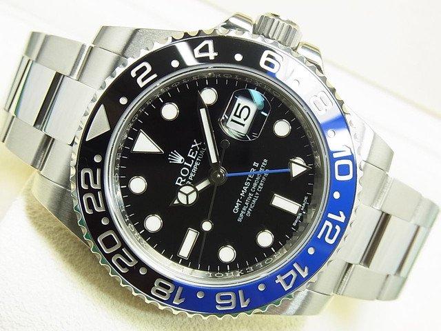 ロレックス GMTマスターII 青黒ベゼル Ref.116710BLNR '15年