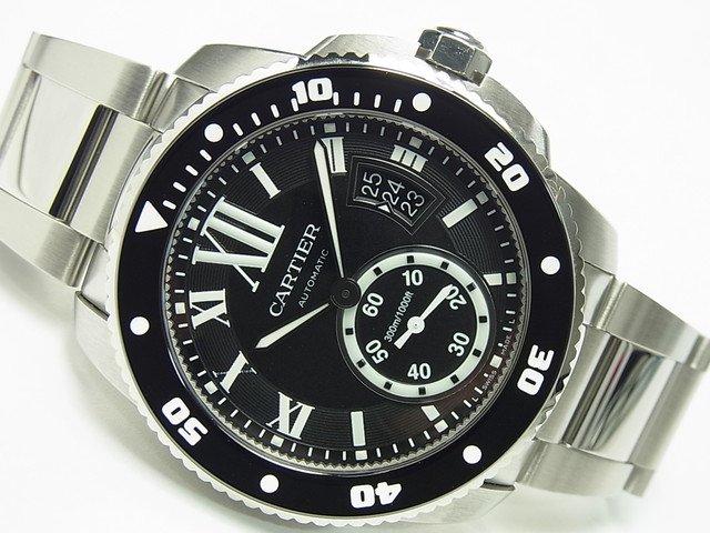 カルティエ カリブルダイバー ブラック ブレス仕様 W7100057