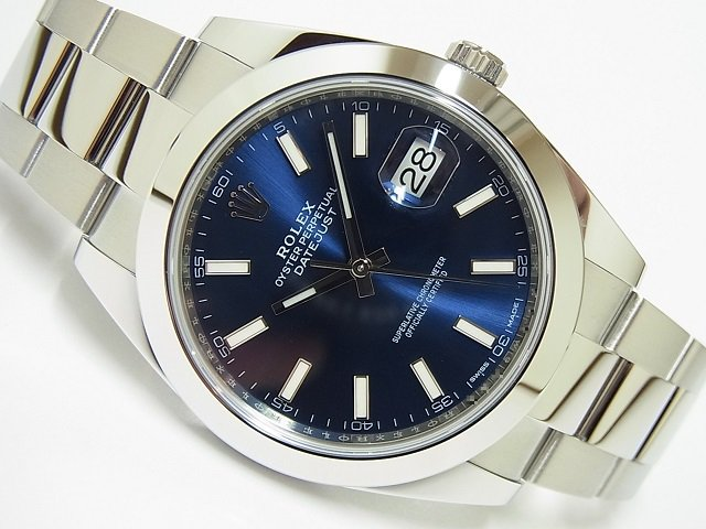 ロレックス デイトジャスト41 ブルーバー 126300 国内正規品