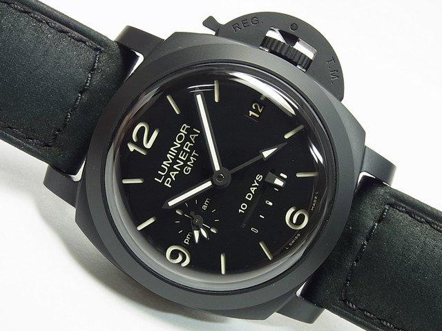 パネライ ルミノール1950・10DAY'S・GMT チェラミカ PAM00335