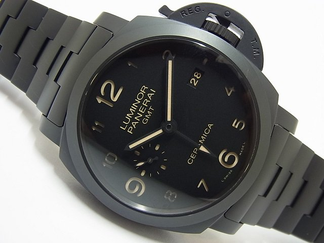 パネライ ルミノール1950・3DAY'S・GMT トゥットネロ PAM00438