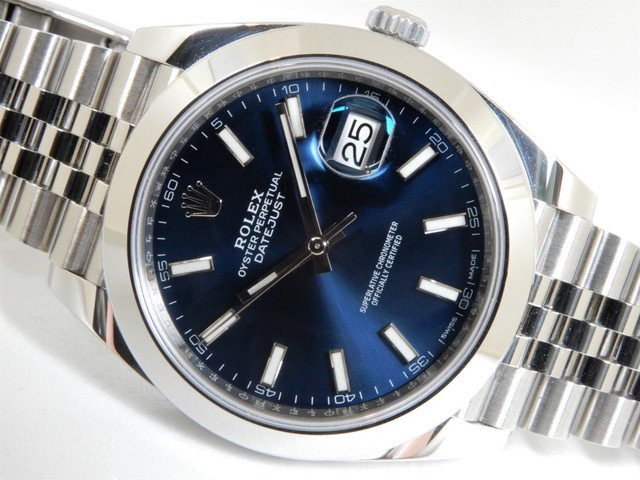 ロレックス デイトジャスト41・ジュビリーブレス ブルー 126300