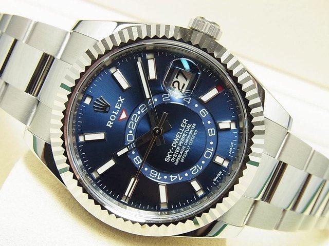 best service 15f18 9b675 ロレックス スカイドゥエラー WGベゼル ブルー Ref.326934 - 腕時計専門店THE-TICKEN(ティッケン) オンラインショップ