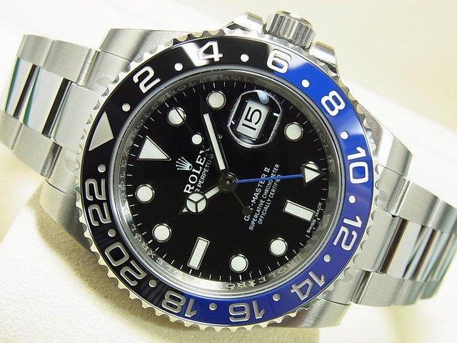 ロレックス GMTマスターII 青黒ベゼル 116710BLNR '18年購入 未使用