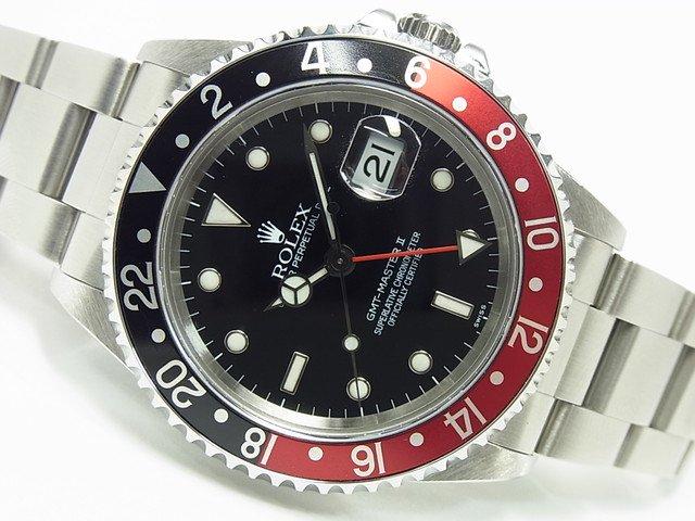 ロレックス GMTマスターII Ref.16710 赤黒ベゼル A番