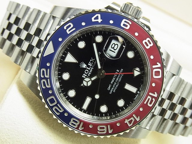 ロレックス GMTマスターII レッド・ブルーベゼル Ref.126710BLRO