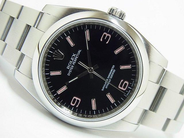 ロレックス オイスターパーペチュアル 116000 ブラックピンク