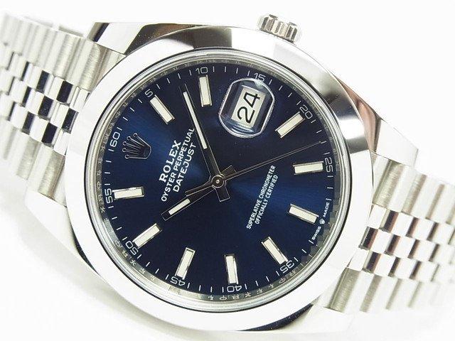 ロレックス デイトジャスト41 ジュビリーブレス ブルー 126300