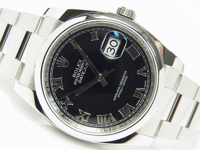 ロレックス デイトジャスト ブラックローマ 116200 ランダム 正規品