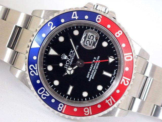 ロレックス GMTマスターII 赤青ベゼル 16710 K番