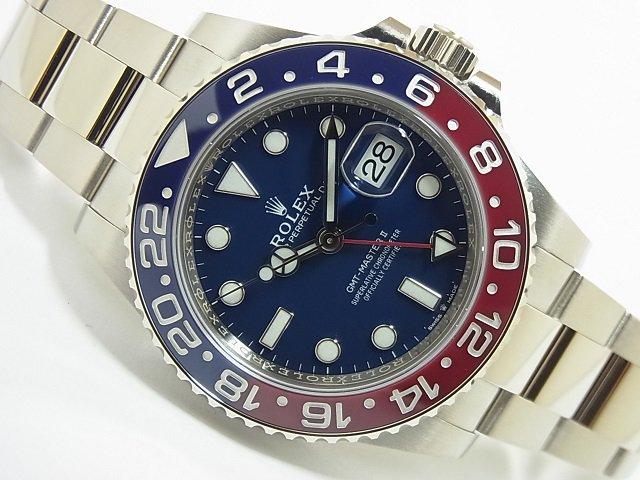 ロレックス GMTマスター� レッド/ブルー 18KWG 126719BLRO 未使用品