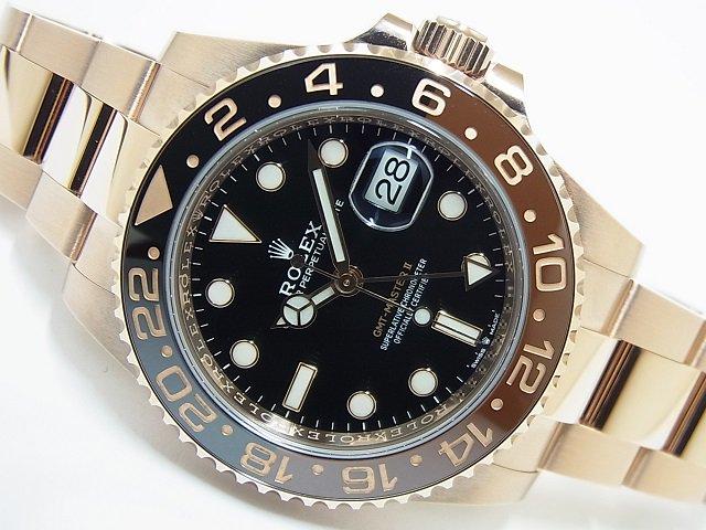 ロレックス GMTマスター� ブラック/ブラウン 18KPG 126715CHNR 未使用品