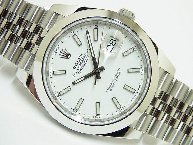 ロレックス デイトジャスト41 ジュビリーブレス ホワイト 126300