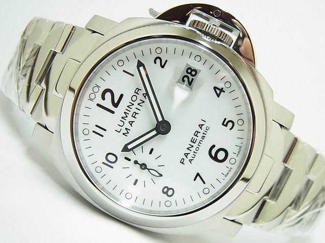 パネライ ルミノール・マリーナ 40MM ホワイト PAM00049 O番 ブレス仕様