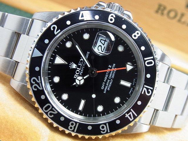 ロレックス GMTマスターII Ref.16710 黒ベゼル A番