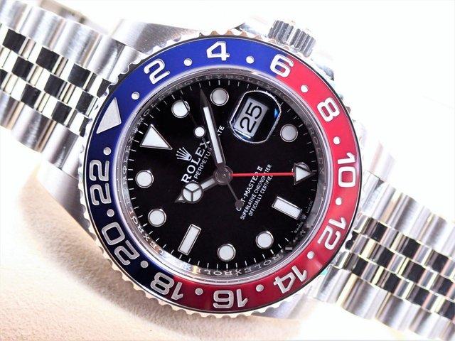 ロレックス GMTマスターII レッド/ブルーベゼル 126710BLRO 未使用品