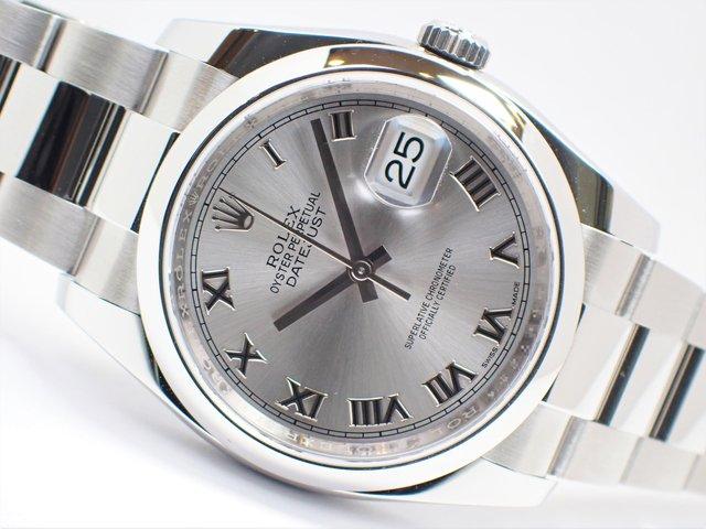 ロレックス デイトジャスト36 グレーローマ 116200 正規未使用品