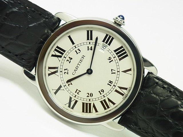 カルティエ ロンドソロ LMサイズ 革ベルト W6700255