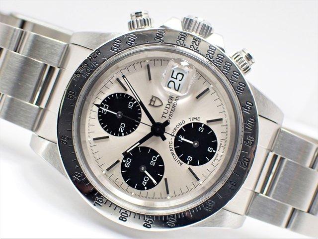 チュードル 旧型クロノタイム SSベゼル 銀×黒 79180
