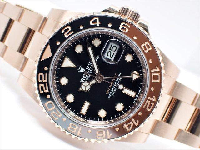 ロレックス GMTマスター� ブラック/ブラウン 18KPG 126715CHNR